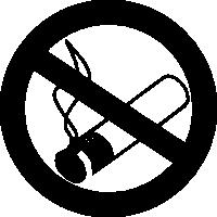 знак не курить - курение запрещено