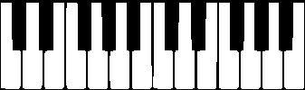 Рисунок пианино клавиатура