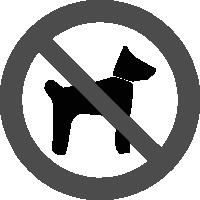 знак вход с животными запрещен
