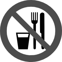знак запрещается есть