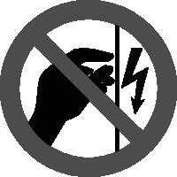 знак запрещается прикасаться корпус пол напряжением
