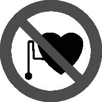 знак запрещается работа людей со стимуляторами сердечной деятельности