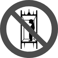 знак запрещается подъем людей по шахтному стволу