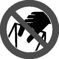 знак запрещается брать руками
